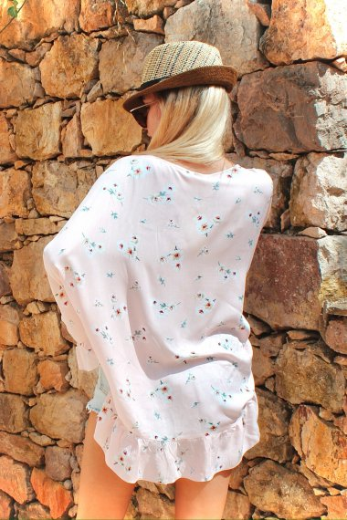 EMBELLISHED VISCOSE TUNIC