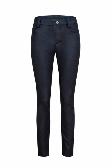SKINNY-FIT JEANS IN DARK BLUE STRETCH DENIM