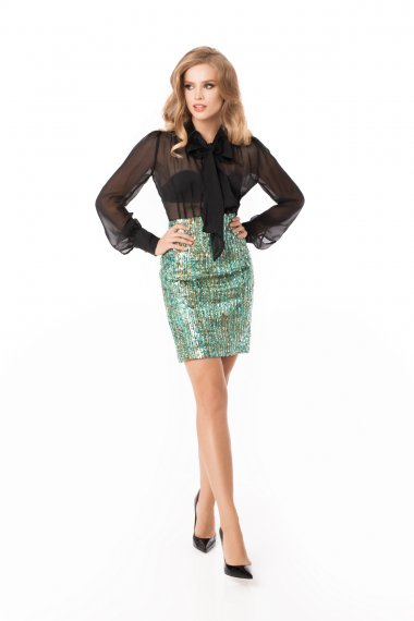 SEQUIN-EMBELLISHED SKIRT